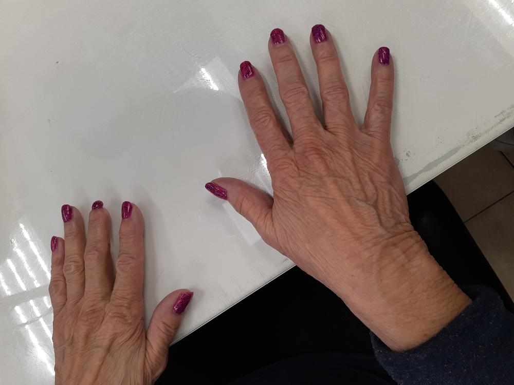 after...nails all even, skin so soft and mami loves the color. very happy!
